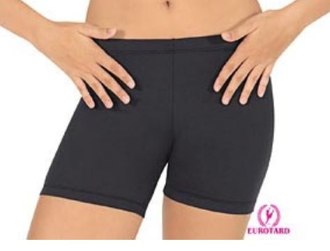 Eurotard Plus Size Longer Length Dance Shorts