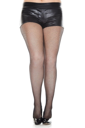 Adult Plus Size Fishnet Seamless Spandex Tights