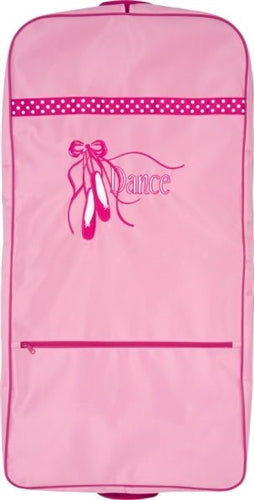 Pink Ballet Slippers Embroidered Garment Bag for Dancers