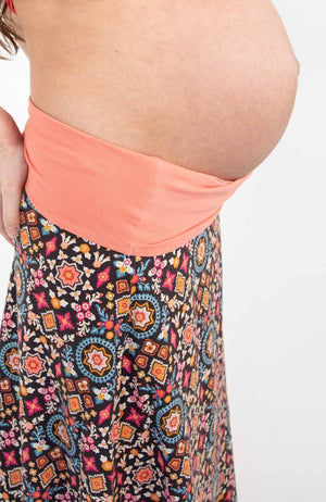 Boho Maternity Skirt Enchanted Garden
