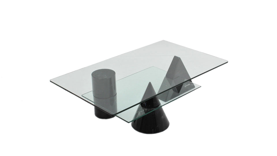 Geometric coffee table Martinelli Luce 1970s