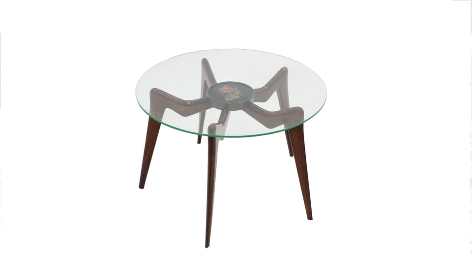 Italian round coffee table 1950s