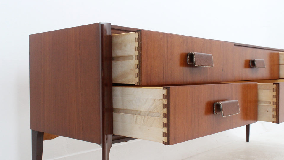 Italian design vintage teak drawer 1960s