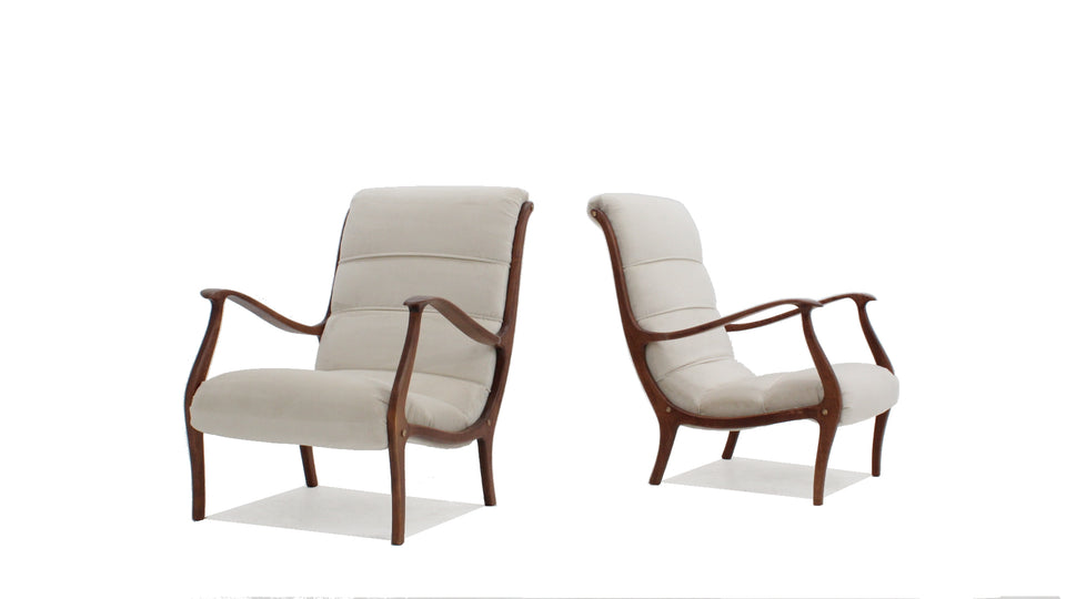 Ezio Longhi armchairs for ELAM 1950s