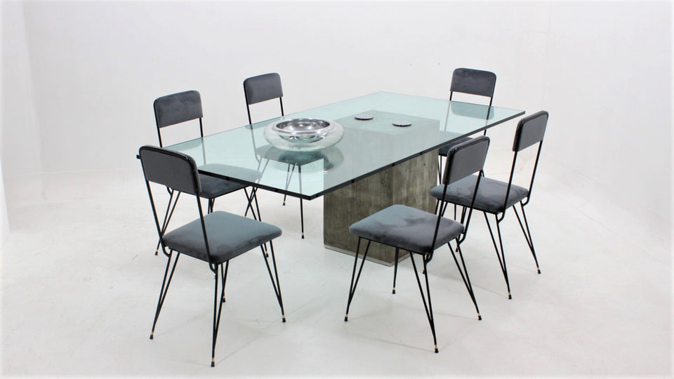 Sergio and Giorgio Saporiti Concrete Dining Table 1970