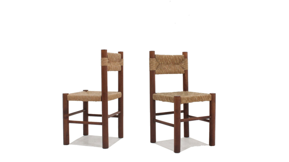 Charlotte Perriand Dordogne chairs, 1960's