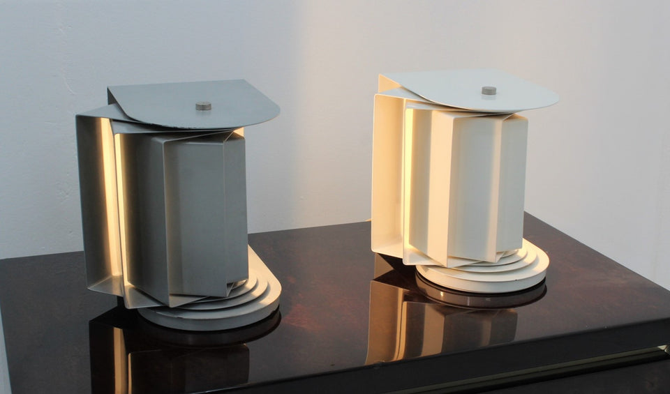 Set of 2 rare table lamp 'Erasmo' Francesconi 1960s