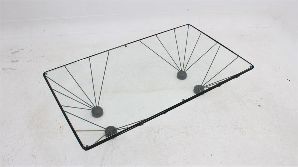 Paolo Passerini vintage coffee table for UVET 1980s
