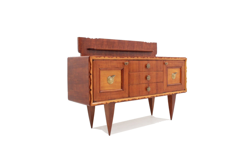 1940s Pier Luigi Colli design deco bar cabinet