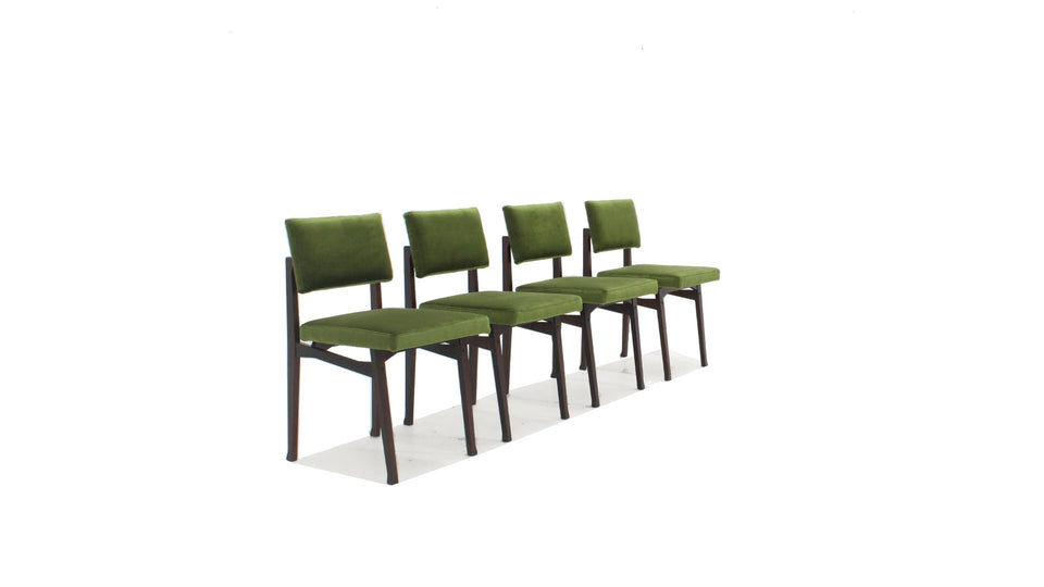 Franco Albini Luisella dining chairs set (4)