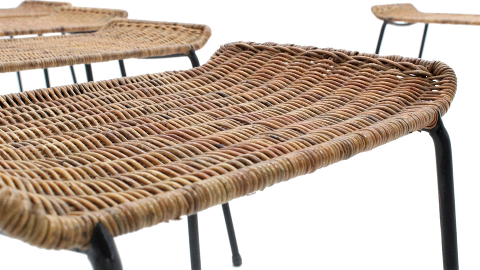 Gian Franco Legler wicker stool 1950 Bonacina