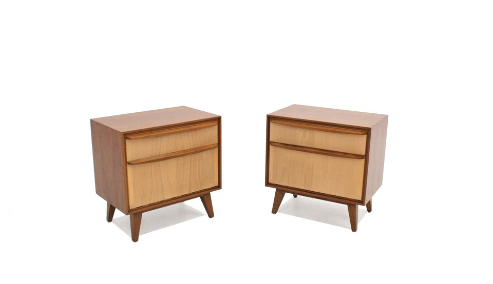 Vintage teak nightstands 1960s