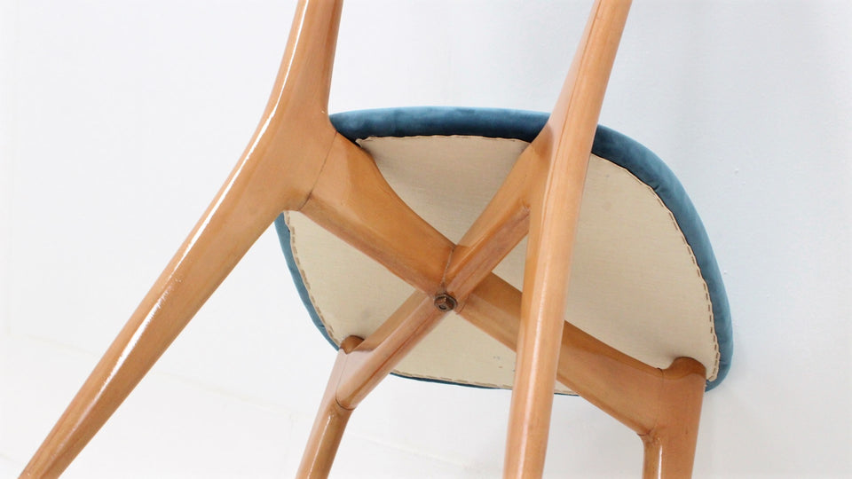 Italian maple dining chairs by Ico & Luisa Parisi 1950s