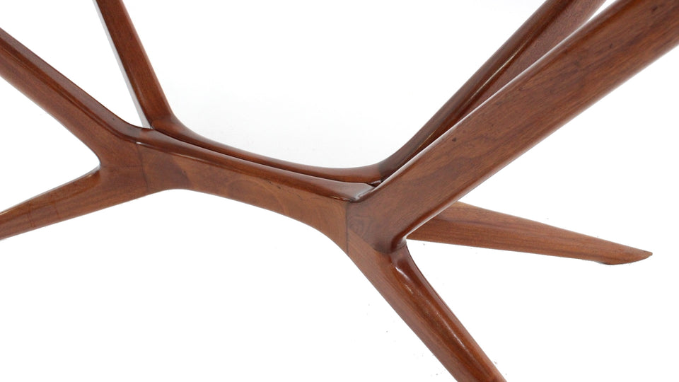 Silvio Cavatorta mahogany dining table 1950s