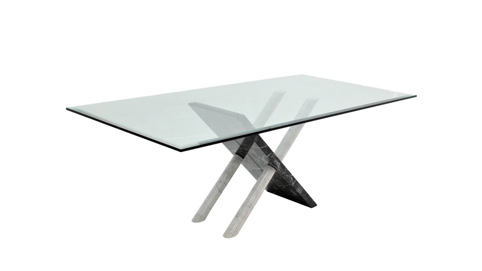 Italian Carrara marble dining table 1970s
