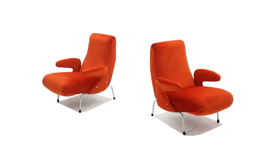 Delfino armchair Arflex 1950s, set of 2