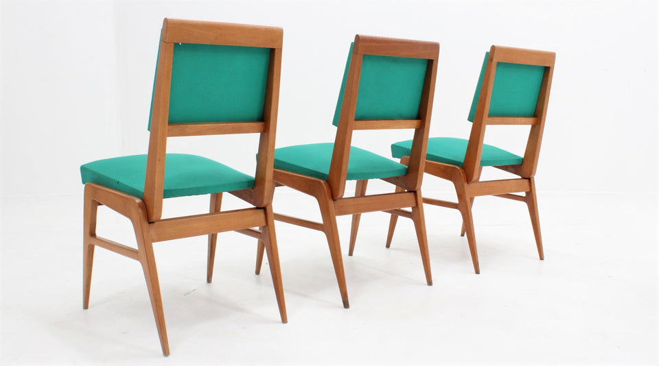 Mid century french dining chairs 1950