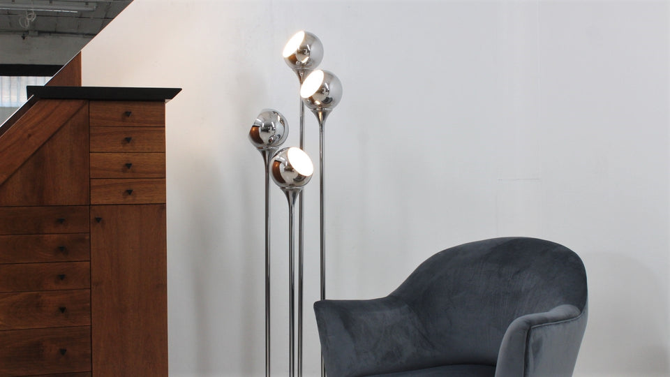 Vintage chrome floor lamp by REGGIANI 1970s