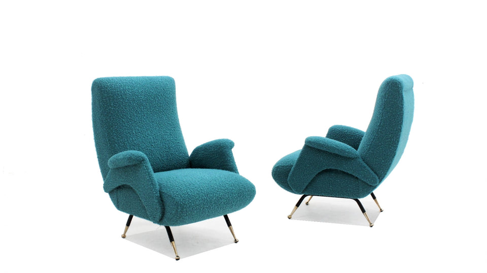 Italian mid century armchair, set of 2