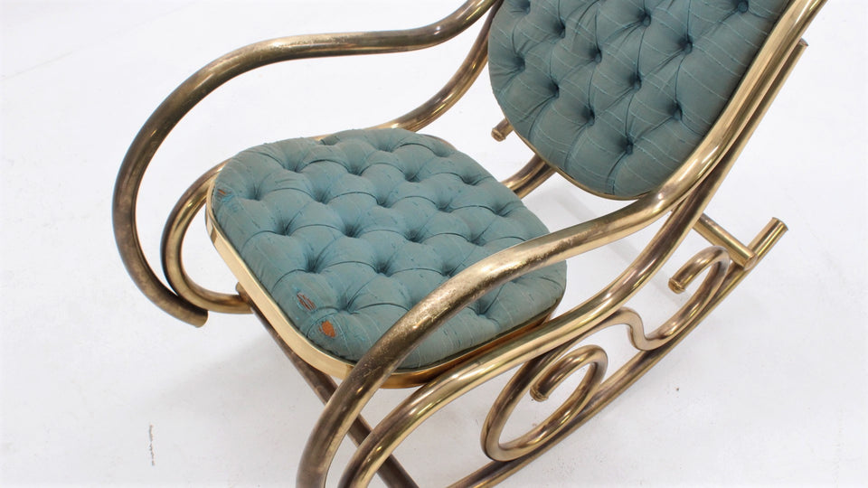 vintage rocking chair, 1950s, chaise bercante