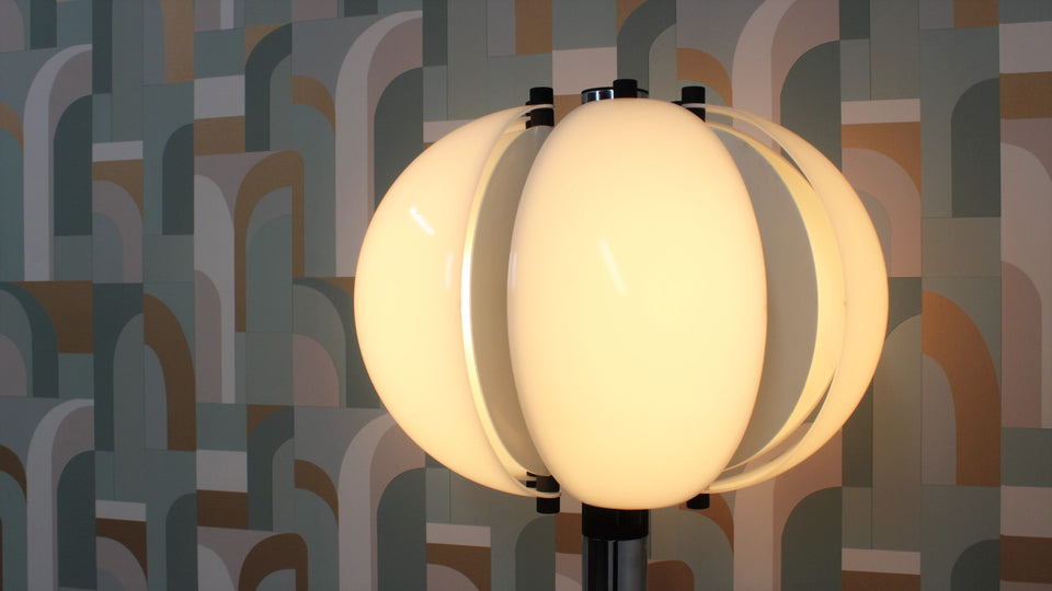 Italian floor lamp Danilo & Corrado Aroldi for Stilnovo 1970s