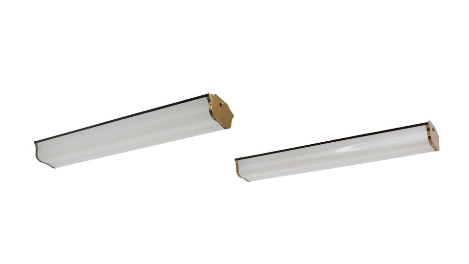 Italian design methacrylate ceiling lamp 1960s, set of 2