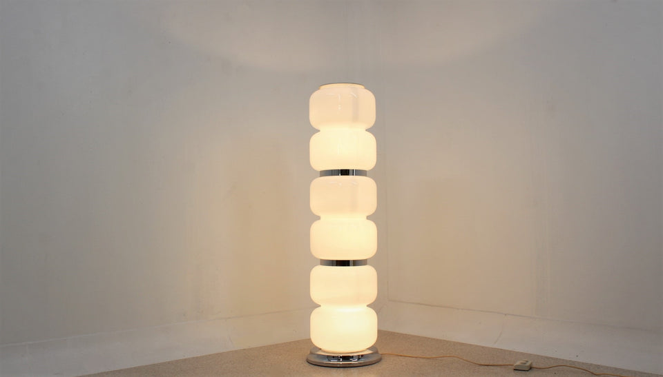 AV Mazzega murano glass floor lamp 1960s