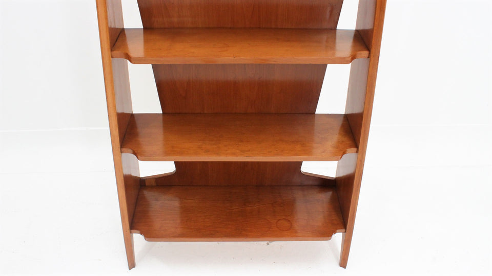 Little vintage oak wood  bookshelf 1950s