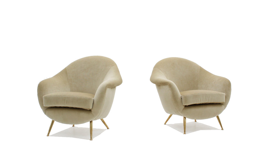 Guglielmo Veronesi armchairs 1950s, set of 2
