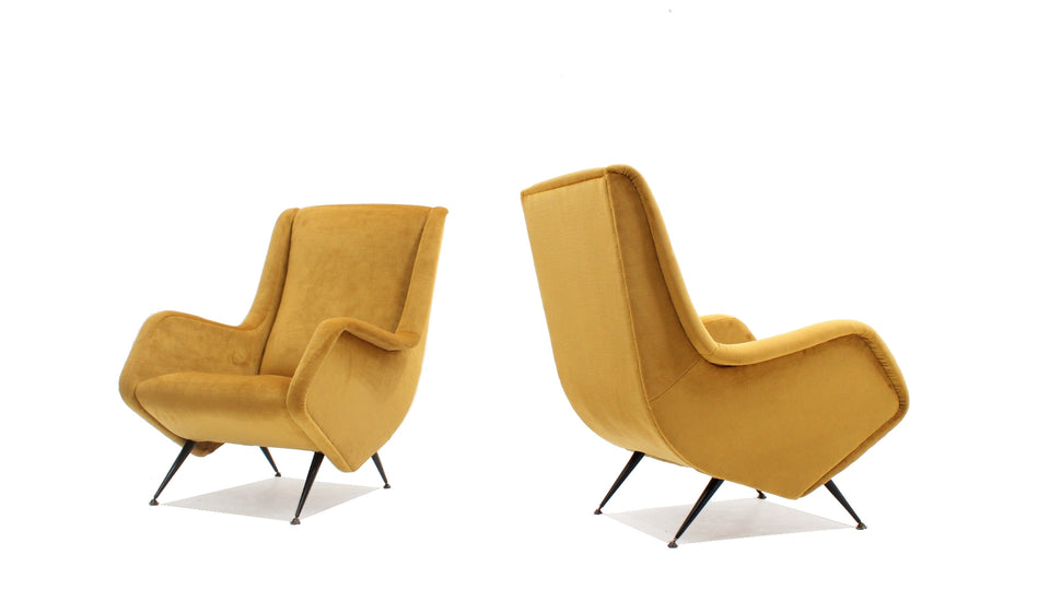 Aldo Morbelli armchairs ISA 1950s, set of 2