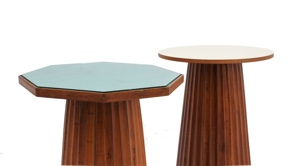 Vintage italian design formica side tables 1950s