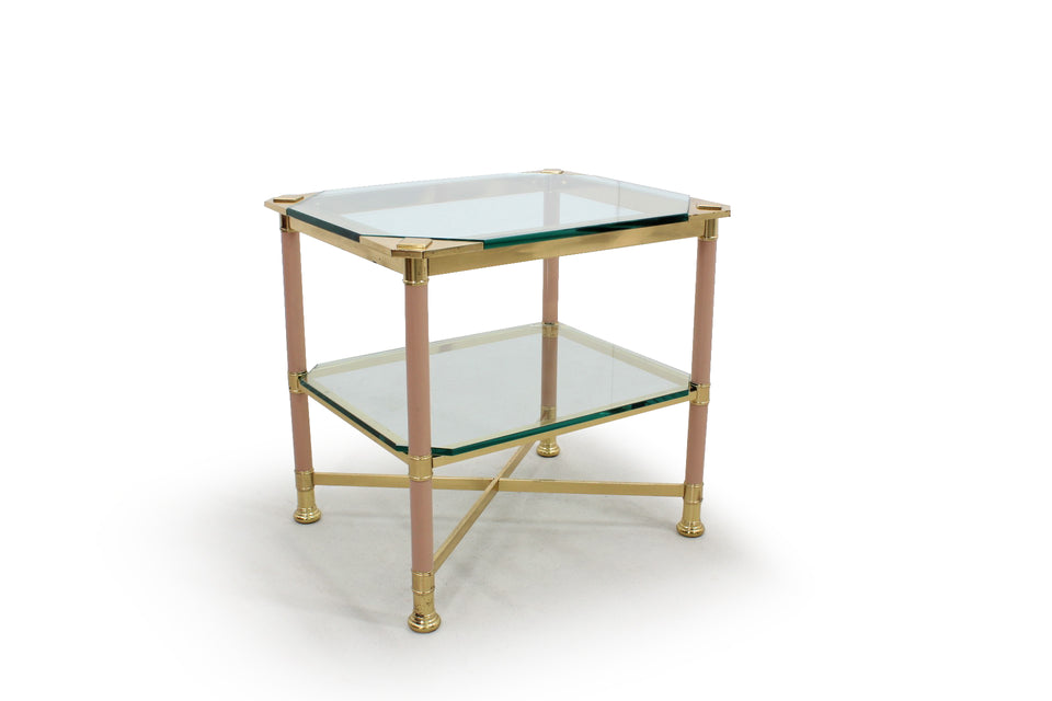 Italian brass coffee table VIVAI DEL SUD, 1960s