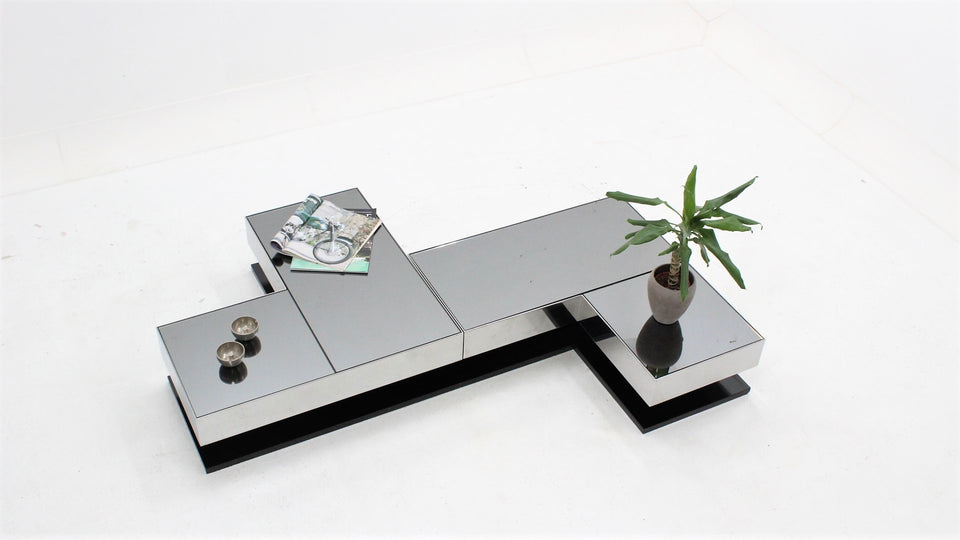 Modular coffee table by NY FORM 1970, tavolino Ausenda anni 60