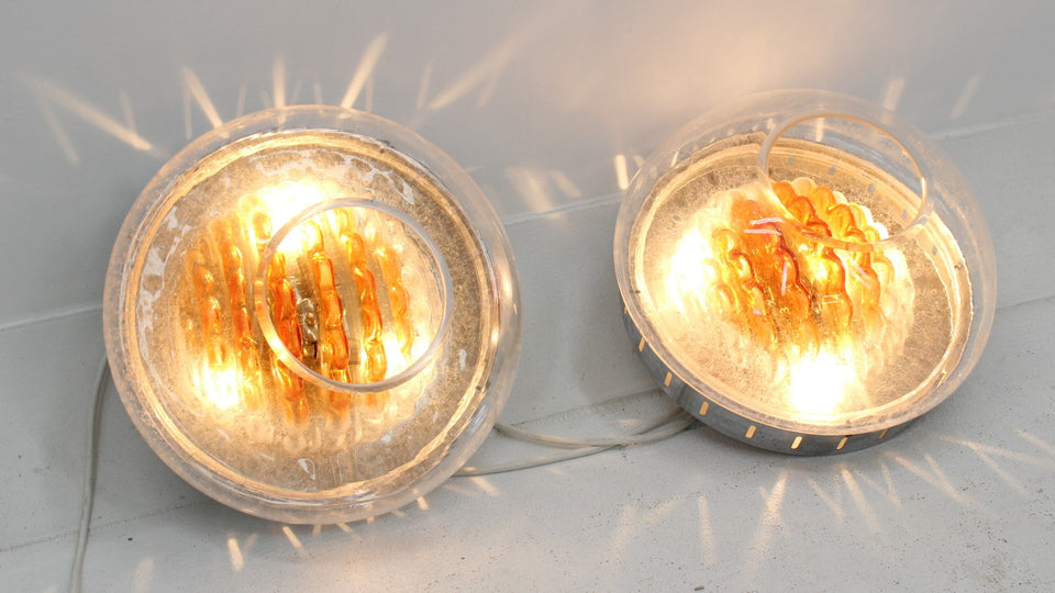 Murano glass sconces Toni Zuccheri for VeArt 1970s