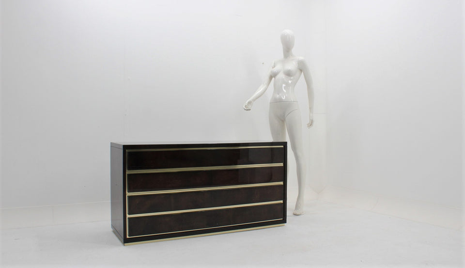 Parchment chest of drawers 1970s Aldo Tura