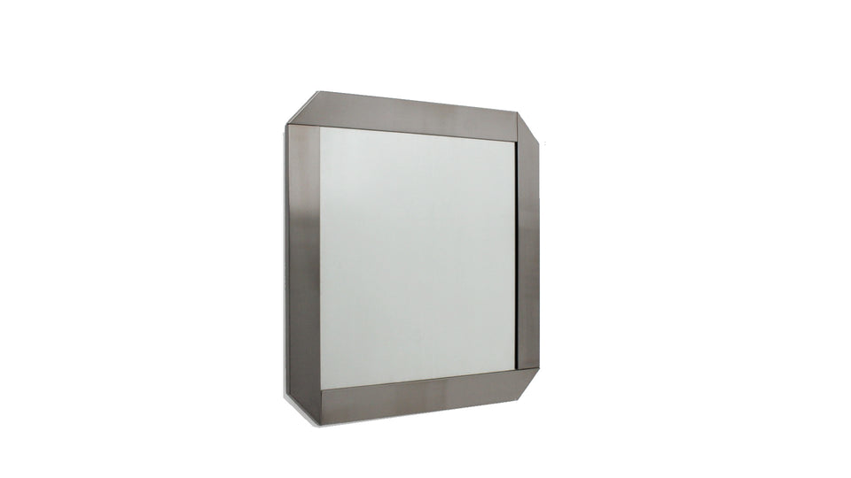 Vintage stainless steel mirror by Valenti 1970s