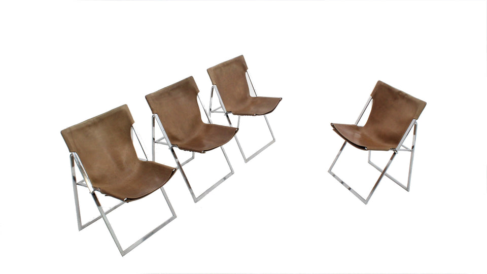 Italian folding dining chairs 1970s