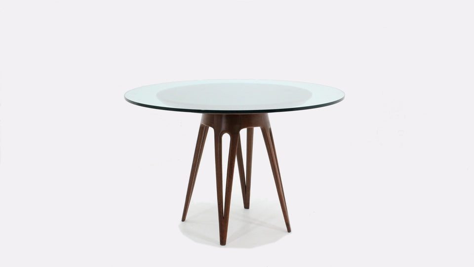 Italian design round dining table 1950s, tavolo tondo anni 50