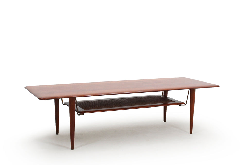 Danish coffee table by Peter Hvidt 1950s, Tavolino danese anni 60 Peter Hvidt & Orla Mølgaard