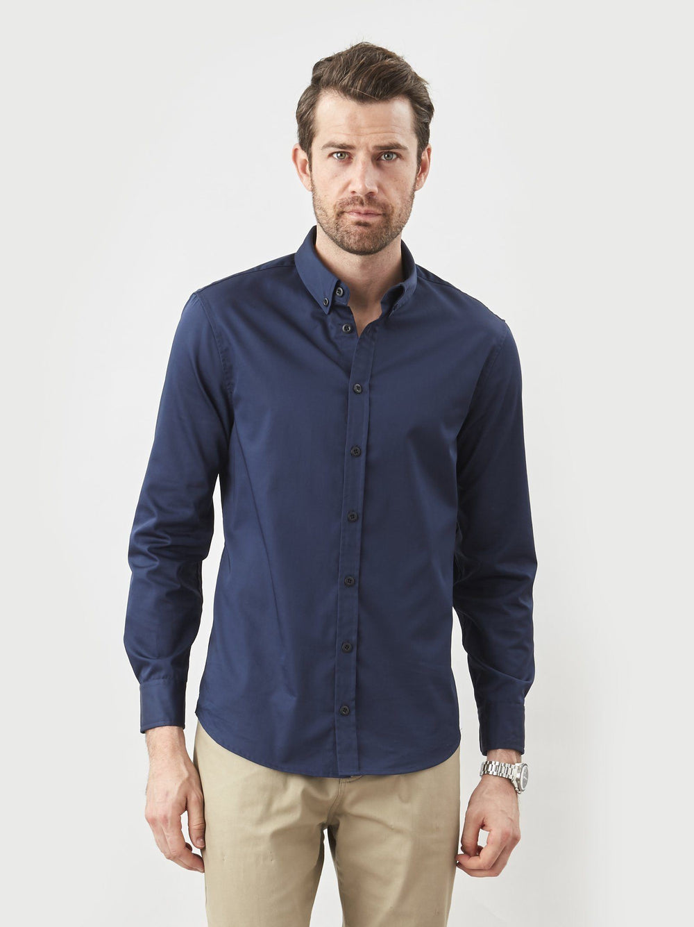 Shirt - Button Down- Midnight Blue