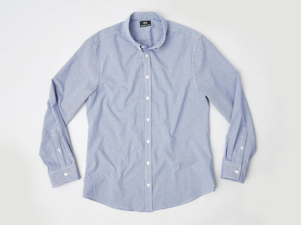 Shirt - Button Down- Royal Blue Check