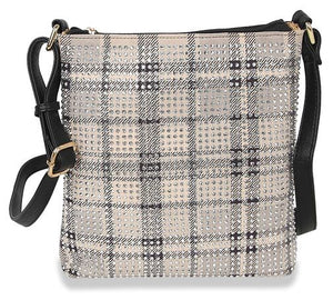 Fresh Paint Vegan Crossbody Bag - Plaid