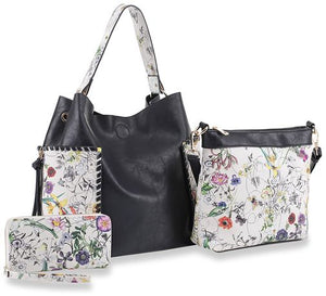 Fresh Paint Vegan Handbags - Floral 3 piece set
