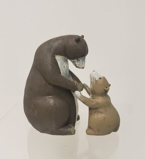 Garden/Home Deco - Bear & Cub