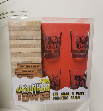 Drunken Tower & Shot Glasses