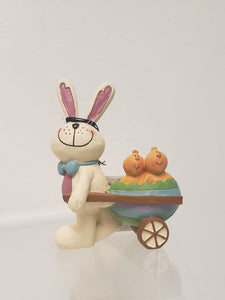 Easter Bunny with Wheel Barrel