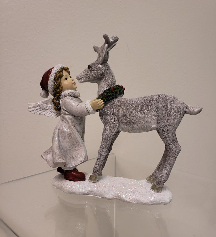 Holiday Decoration - Angel & Deer