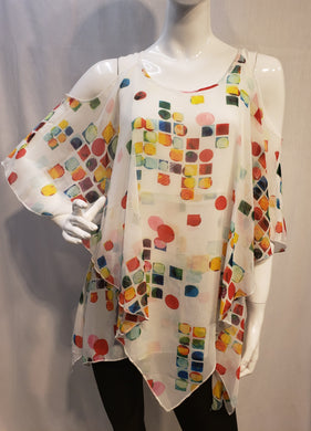 Jessy Fashion - Top with Color Dots