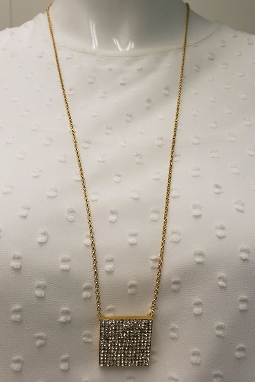 Carmel Necklace with Square Pendant