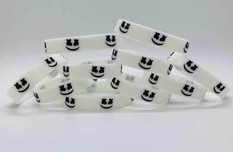Fortnite Marshmello Silicone Rubber Bracelets Wristbands Glow In Dark